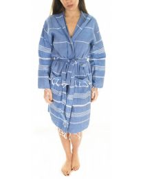Turkish Peshtemal Lightweight Bathrobe Cotton Unisex