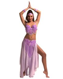5 Sequined Belly Dance Costumes