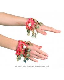 Belly Dance Wrist Cuff Bracelet Pair