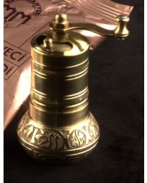 Turkish Coffee Brass Hand Made Engraved Grinder Spice Pepper Mill