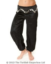Belly Dance Harem Pants Velvet Beads