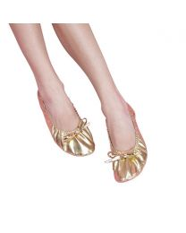 Belly Dance Shoes Ballet Flat Soled Metallic