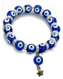 Swarovski Crystal Evil Eye Protection Lucky Charm Nazar Bracelet
