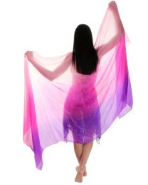 Hand Dyed Silk Veil For Belly Dance