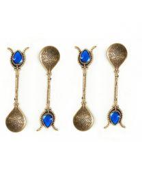Turkish Copper Ottoman Style Tea Coffee Spoon Set of 4