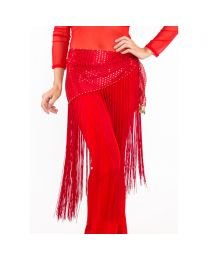Belly Dance Scarf Wrap Long Tassel Fringe Shiny Full Length