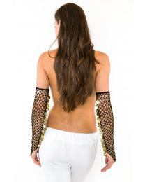 Belly Dance Tribal Gloves, Gauntlets with Coins (PAIR)