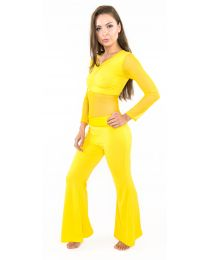 Long Sleeved Trouser Suit Set with Top & Pants For Belly Dance or Yoga