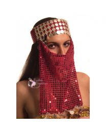 Belly Dance Tiara with Face Veil